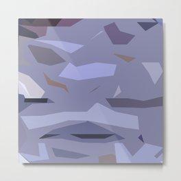 Fragmented Violet Metal Print