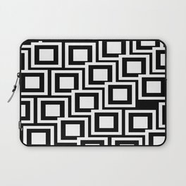 Black and White Squares Pattern 02 Laptop Sleeve