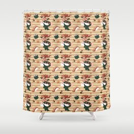 Mermaid Sushi Shower Curtain
