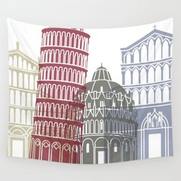 Pisa skyline poster Wall Tapestry
