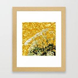 GOLDEN LACE FLOWERS FROM SOCIETY6 BY SHARLESART. Framed Art Print