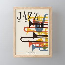 Vintage poster-Jazz festival 2016. Framed Mini Art Print