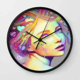 Candied Heart Wall Clock