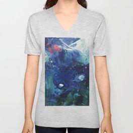 Bright Ocean Life, Tiny World Collection Unisex V-Neck