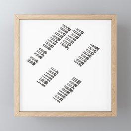 we are entranced ~ social media Framed Mini Art Print
