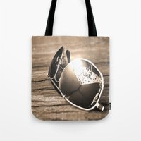 sunglasses Tote Bags featuring Sunglasses by Cs025