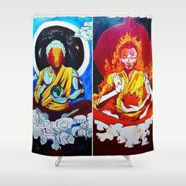 ELEMENTAL BUDDHAS Shower Curtain