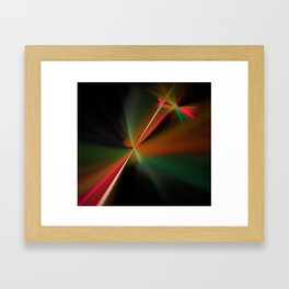 the meeting of two laser beams Framed Art Print