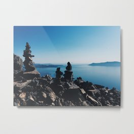 Santorini rocks Metal Print