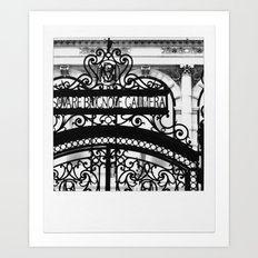 Paris Black Lace Gate - Polaroid Project Art Print