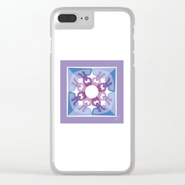 Peace is a Flower Mandala Clear iPhone Case