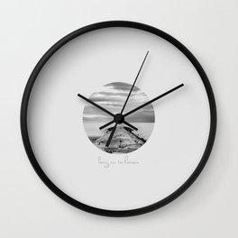 Long run to Heaven Wall Clock