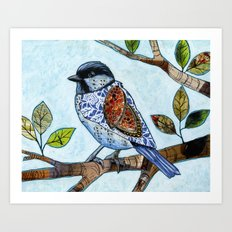 Songbird 2 ... Collage Bird Art Art Print