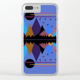 Geese On The Wing Clear iPhone Case