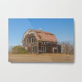Barn House, Wells County, North Dakota 2 Metal Print