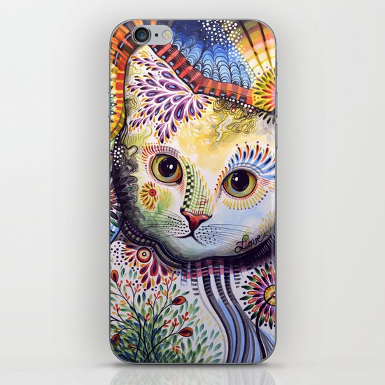 Lucy ... Abstract cat art iPhone & iPod Skin