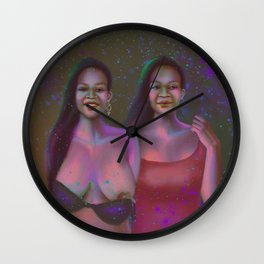 The Twins - cover art Wall Clock