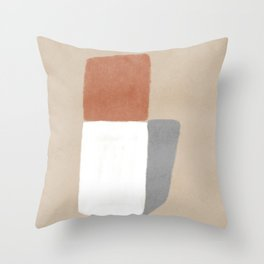 Unconventional totem hand Throw Pillow