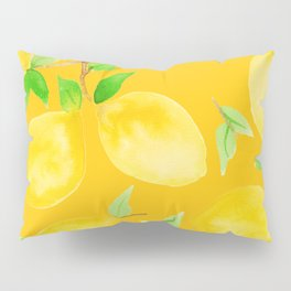 Lemons on Mustard Yellow Pillow Sham