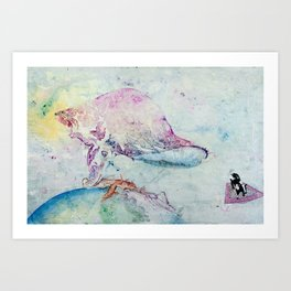Alien Cow Innoculates Earth Art Print