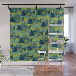 Water Fishes Wall Mural