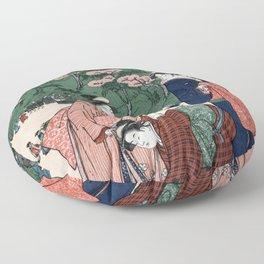 Oriental Chinese ladies art Floor Pillow