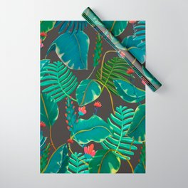 dark leaves Wrapping Paper