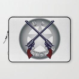 US Marshal Guns and Badge Laptop Sleeve