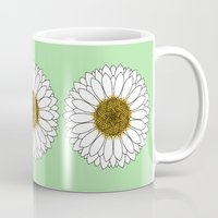 daisy Mugs featuring Daisy by Lorelei Douglas
