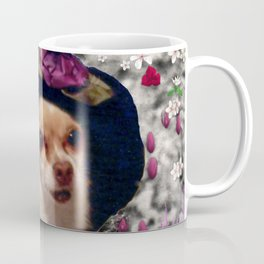 Chi Chi in Purple, Red, Pink, White Flowers, Chihuahua Puppy Dog Coffee Mug