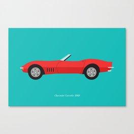 Chevrolet Corvette 1968 Canvas Print
