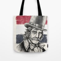 butcher billy Tote Bags featuring The Butcher by Derek Guidry