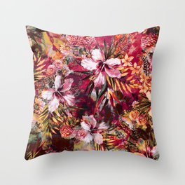 Tropical Heaven III Throw Pillow
