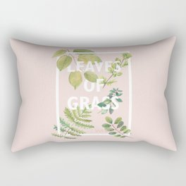 Leaves of Grass, Walt Whitman, book cover illustration, american poetry collection, flowers art Rectangular Pillow