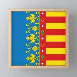 Flag of Valencia Framed Mini Art Print