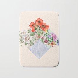 Floral Blocks Bath Mat