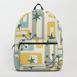 Colorful Retro Mid Century Modern Solar Squares 638 Backpack