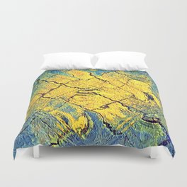 sunabstract. Duvet Cover