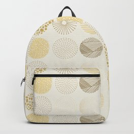 Decorative Pattern in Brown and Beige Backpack