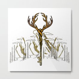 Wilderness Key Metal Print