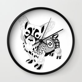 kawaii corgi dog ecopop Wall Clock