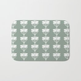 Pewter Arts and Crafts Dragonflies Bath Mat