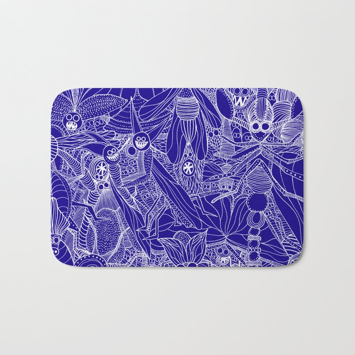 Insects - night Bath Mat