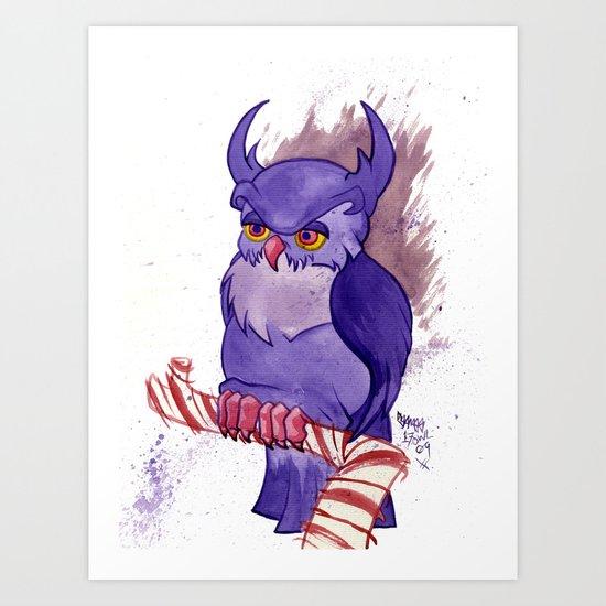 Purple Peppermint Perch Art Print