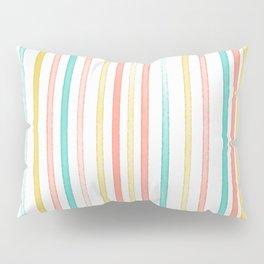 Striped Watercolored Pattern Pillow Sham