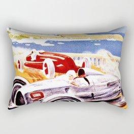 Vintage 1936 Monaco Grand Prix Racing Wall Art Rectangular Pillow