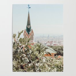 A stroll through Barcelona Poster