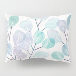 Eucalyptus / Watercolor Collage Pillow Sham