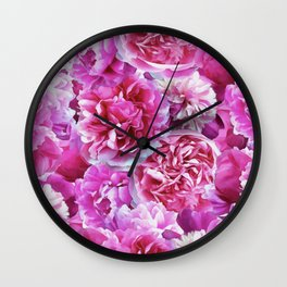 Lovely pink peonies Wall Clock