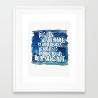 klaine Framed Art Prints featuring klaine stan 4eva by Tiny M